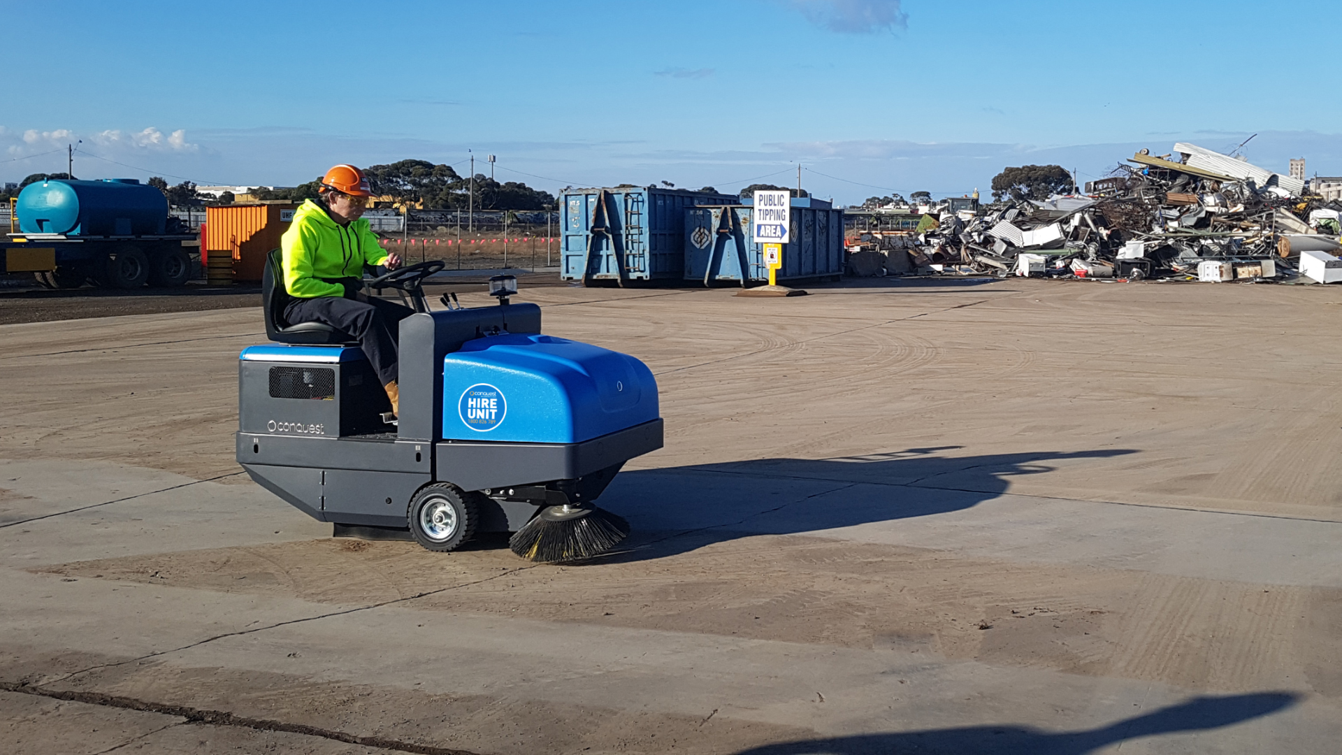Conquest PB115 Power Sweeper available on Short-Term Hire